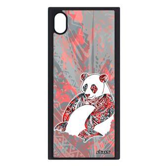 Coque Sony Xperia Xa1 Silicone Panda Homme Dessin Plume Tribal Paix