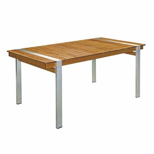 Table de repas rectangulaire 160 cm Bois/Acier - RAIVAVAE