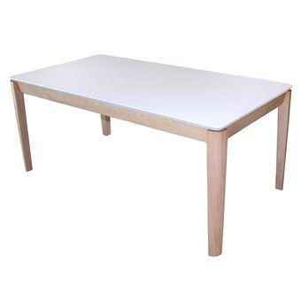 Table De Repas Rectangulaire Chêne Massif Blanchi Et Fénix Banc Avec