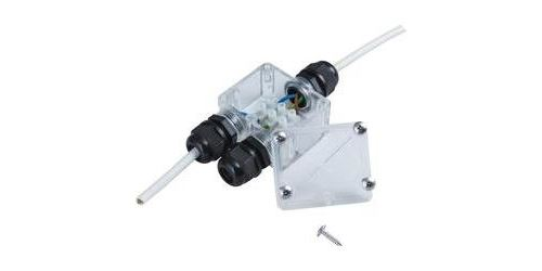Répartiteur 2x 230 V 4 cm Heitronic 21041 transparent
