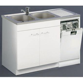 Meuble Sous Evier Special Lave Vaisselle Aquarine Long 120 Cm