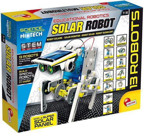 Lisciani- Robot Solaire CONSTRUCTIONS – MULTIROBOT 14 MODELES Energies SOLAIRE/MOUVEMENT-73252, 73252, Multicolore