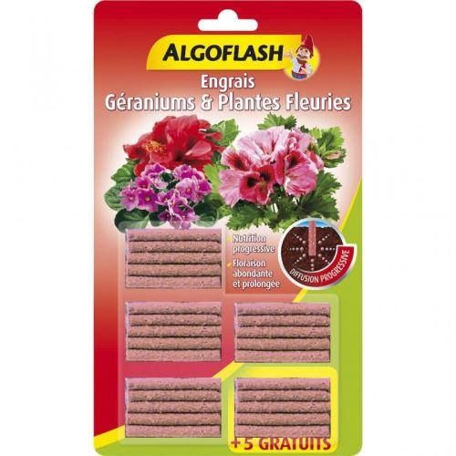 Batonnets Engrais Plantes fleuries 20 + 5 gratuits Algoflash