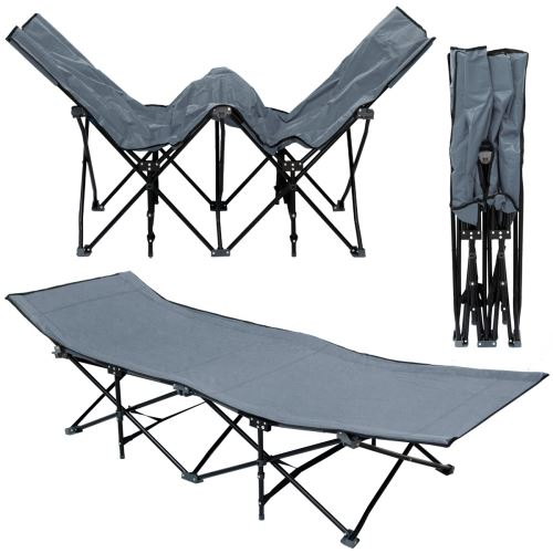 Lit de camp pliable de AMANKA portable avec sac incl idéal pour faire du camping voyager se bron