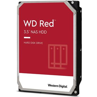 """WD Red NAS Hard Drive WD60EFAX - Vaste schijf - 6 TB - intern - 3.5"""" - SATA 6Gb/s - 5400 tpm -buffer: 256 MB"""