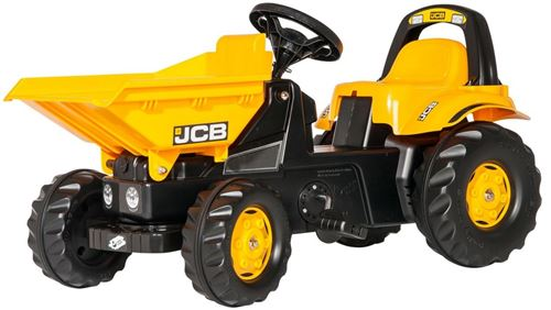 Rolly Toys tracteur escaliers RollyKid Dumper JCB jaune junior