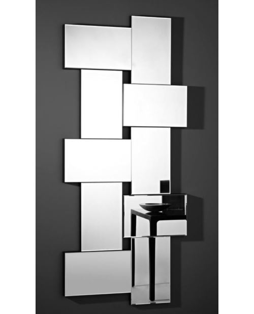 Miroir design Criss Cross Contemporain Rectangulaire Naturel