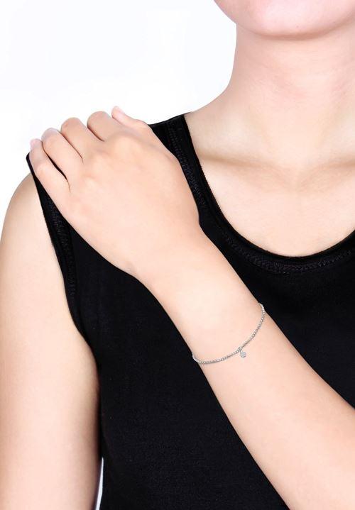 Argent 925//1000 0205292212/_18-18cm Cristal Swarovski Elli Bracelet Femme