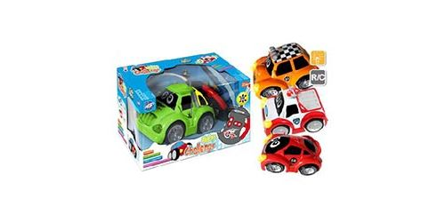 La voiture radiocommandée Baby Challenge est idéale pour les petits. Très facile d'utilisation, elle fera le bonheur de votre enfant qui n'aura pas de mal à la piloter. Véhicule radiocommandé lumineux toutes fonctions, il tourne à gauche ou a droite en av