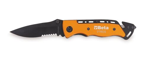 Beta couteau pliant 1778SOSmultitool 20 cm orange