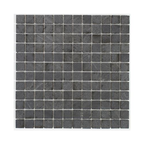 u-tile mosaique en pierre naturelle 30 x 30 cm - carreau 2,5 x 2,5 cm - graphite noir