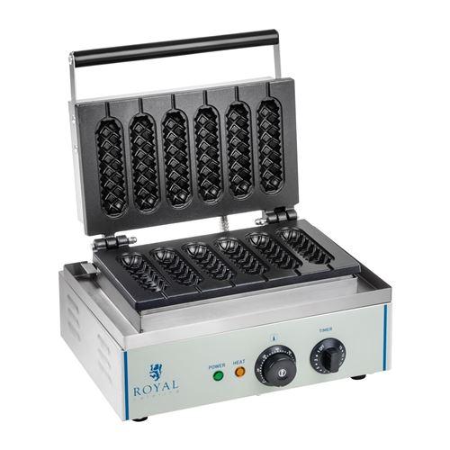 Gaufrier épi professionnel Téflon rond puissance 1 x 1 500 watts