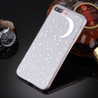 coque iphone 8 argenté brillant