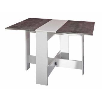 Table manger pliante en bois 3 positions astucea blanc - Table pliante salle a manger ...