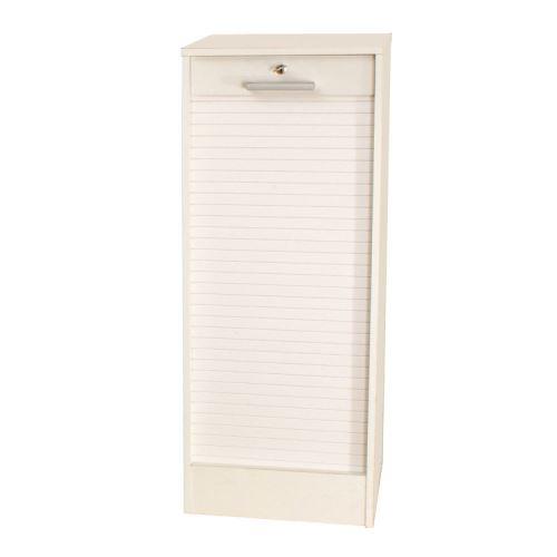 Classeur à rideaux en bois Hauteur 138 cm - Blanc