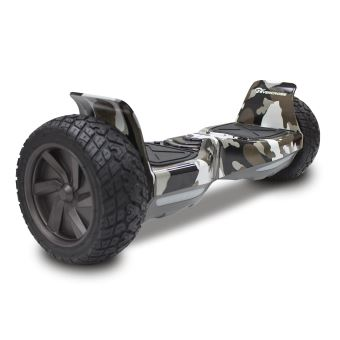 Hoverboard EVERCROSS SUV HUMMER Gyropode Tout terrain Bluetooth et Application, Couleur Camouflage vert Militaire