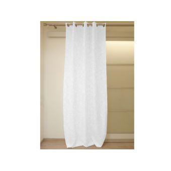 rideau occultant oeillets 140x180 cm espace blanc par soleil d 39 ocre achat prix fnac. Black Bedroom Furniture Sets. Home Design Ideas
