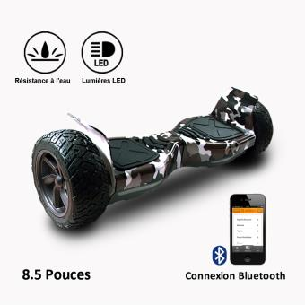 geekme hoverboard hummer 4 x 4 tout terrain bluetooth application camouflage skateboard. Black Bedroom Furniture Sets. Home Design Ideas