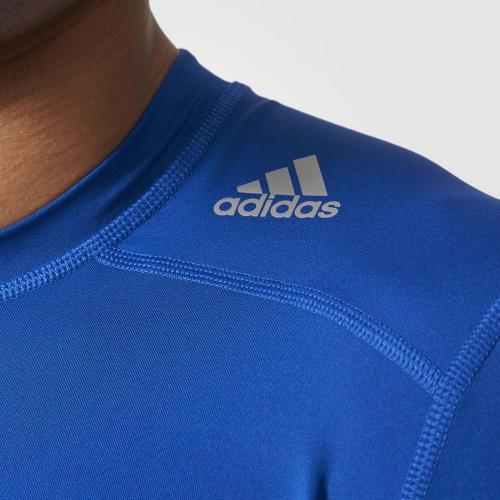 Adidas TechFit Base Bleu S Maillot compression manches courtes Adulte Homme
