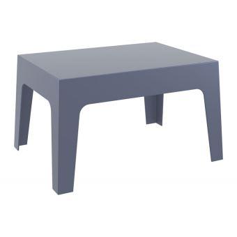 Table basse de jardin en plastique gris foncé 50x70x43 cm MDJ10172 ...
