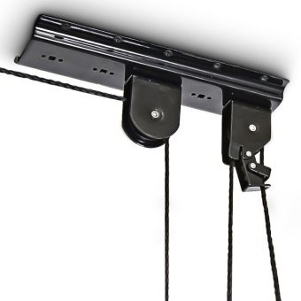 Support vélo rangement vélo plafond Garage Ascenseur VTT Stockage bicyclette noir Helloshop26 ...
