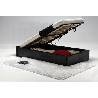 lit coffre avec sommier lattes multiplis 90x190 cm. Black Bedroom Furniture Sets. Home Design Ideas