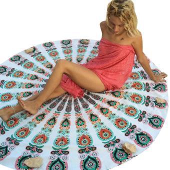 tapis rond tapis de yoga blanc yoga et pil tes. Black Bedroom Furniture Sets. Home Design Ideas
