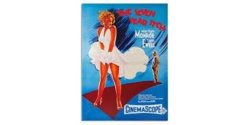 Affiche de cinéma Marilyn Monroe The Seven Year Itch pour décoration - Poster de film