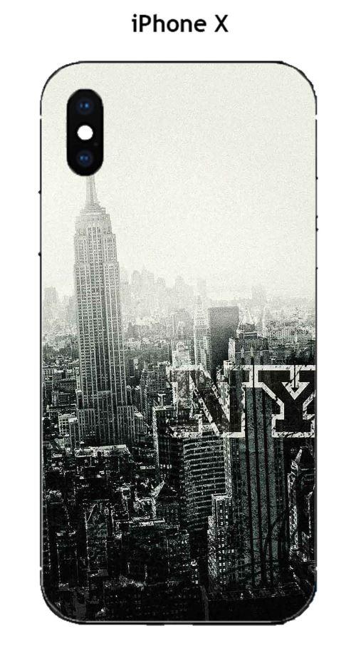 Coque Apple Iphone X Design New York City Etui Pour Telephone