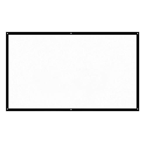 """H84 Écran du projecteur Portable 84"""" HD 16:9 Diagonale Pliable pour Cinéma Maison Blanc"""