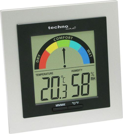 Technoline WS 9430 Thermomètre Argent/Noir
