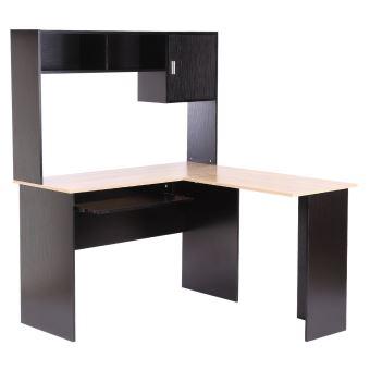 Bureau informatique bureau d\'angle avec étagère - Achat & prix | fnac