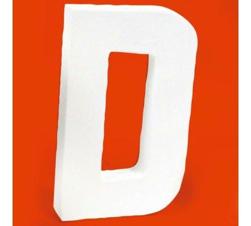 Lettre en carton D