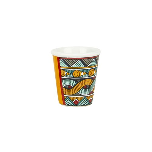 Tasse à expresso ethnique Wax - 70 ml - Multicolore
