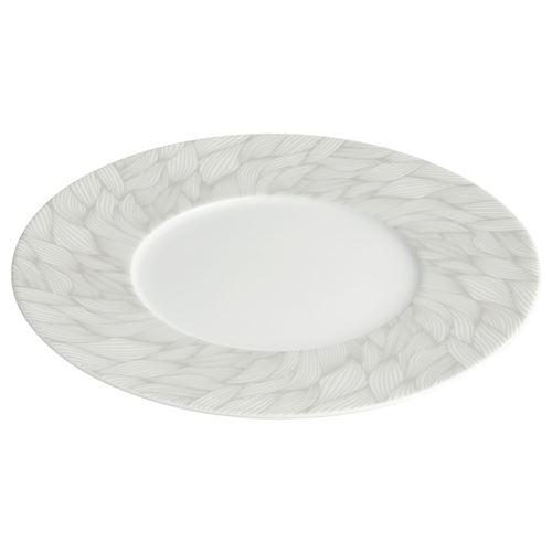 Assiette à dessert Feuille - Blanc