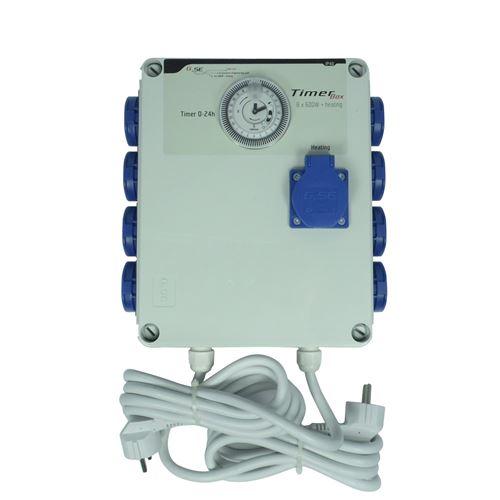 Programmateur d'éclairage 8 x 600w + prise chauffage - timer box gse