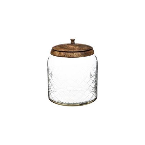 Bonbonnière en verre manguier - H 23 cm