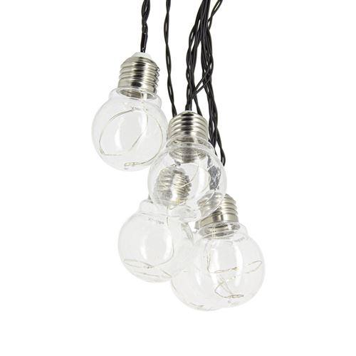 Xanlite|Guirlande d'ampoule LED P45 - 5 m - RVB|GRL5PRVBT