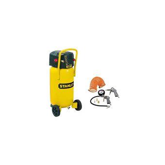 Stanley Compresseur Vertical 50 L 2 Cv 10 Bars Avec Kit De Gonflage