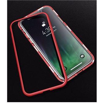 coque iphone xr magnetique rouge