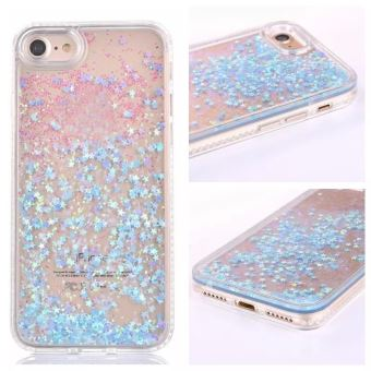 coque iphone 8 paillette bleu