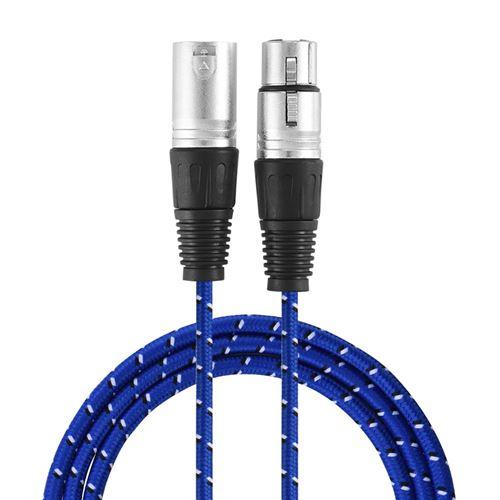 Câble audio 3Pin XLR Mâle à Femelle Microphone 3m