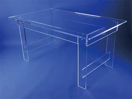 Grande table ceinture transparente