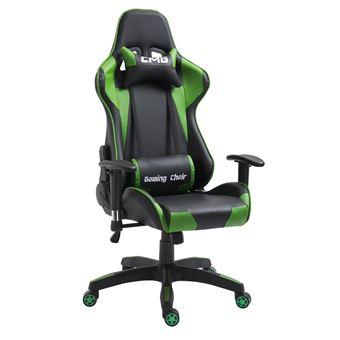 chaise de bureau gaming fauteuil gamer chair style racing racer sige revtement synthtique noir et vert achat prix fnac - Chaise De