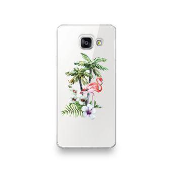 Coque pour Samsung Galaxy J3 2016 motif Flamant Rose Tropical