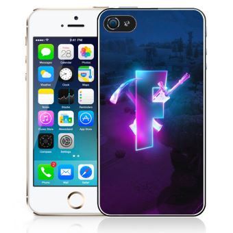 Coque pour iPhone 4/4S fortnite logo glow