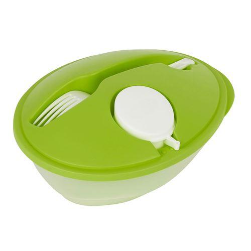 Totally Addict - Lunch box avec cuillère en plastique - 920 ml - Vert