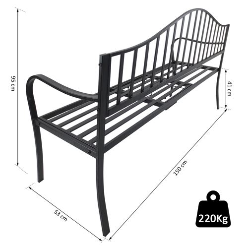 Banc De Jardin Design Contemporain 2 3 Places Tablette Centrale