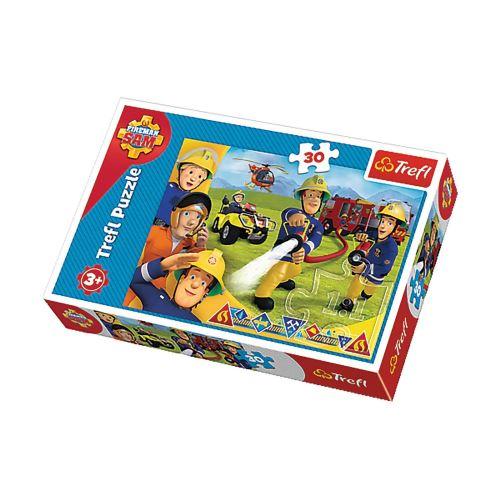 Puzzle Sam le pompier - + 3 ans - 30 pièces