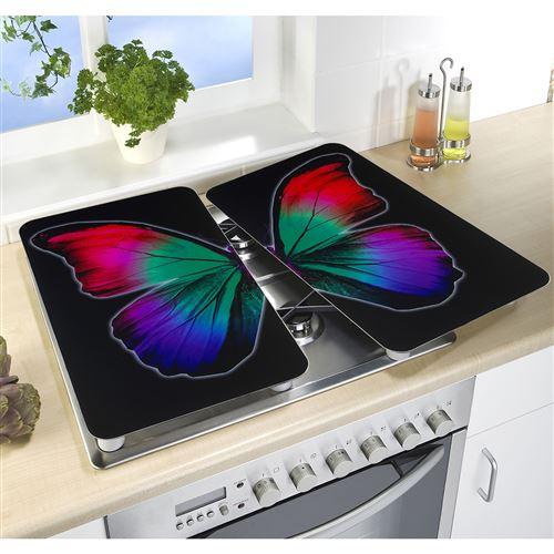 2 Couvre-plaques universel - Papillon nocturne